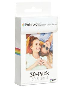"Share the memories almost as quickly as they're made with this 30 pack of Polaroid printer paper, compatible with Zink Zero Ink Printing Technology. | Made in USA | Produces 30 borderless 2"" x 3"" prin"