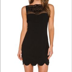 REVOLVE Endless Rose Black Lace Scalloped Dress REVOLVE CLOTHING • Endless Rose Black Lace Scalloped Dress • size M • NWT REVOLVE CLOTHING Dresses