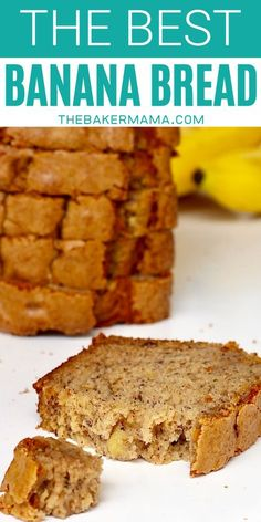 This is the best classic banana recipe you'll ever make!  This Banana Bread recipe turns out perfect every time. It's crisp on top, moist in the middle and perfectly sweetened throughout, with tons of banana flavor in every bite. #bananabread #homemadebread