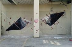 Street art in Bologna, Italy, by G LOOIS. Photo by G LOOIS.