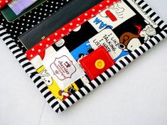 Snoopy Passport Wallet passport cover for 2 passport card Passport Card, Passport Cover, Snoopy Comics, Black And White Colour, Travel Gifts, Handmade Shop, Peanuts, Wallets For Women, Hand Sewing