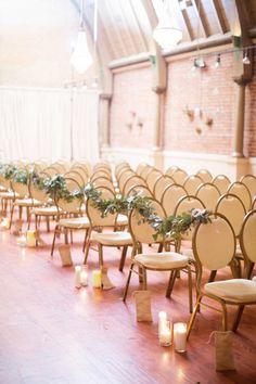 Ceremony seating: http://www.stylemepretty.com/california-weddings/long-beach-ca/2015/04/24/elegant-loft-on-pine-wedding/ | Photography: Andy Seo - http://andyseostudio.com/