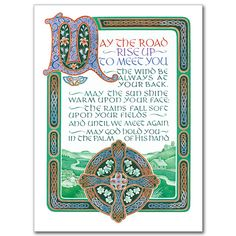 irish blessing #calligraphy #typography st. patrick's day #celtic