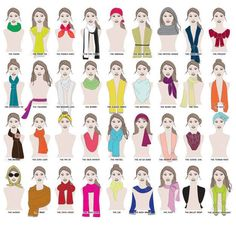 How many ways are there to wear a scarf? A MILLION WAYS.
