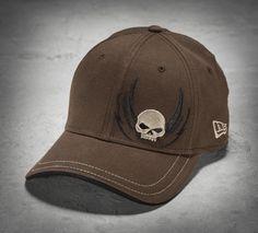 A fresh, fearless design in men's baseball caps. | Harley-Davidson Men's Skull with Wings 39THIRTY® Baseball Cap