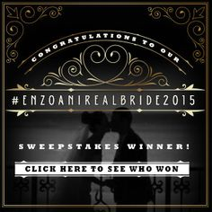 CONGRATULATIONS to the winner of our #EnzoaniRealBride2015 Sweepstakes! We are so excited to be able to provide you with your dream Enzoani gown, and look forward to seeing you in Los Angeles! http://bit.ly/1yjjt3g
