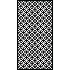 Modinex 6 ft. x 3 ft. Charcoal Gray Decorative Composite Fence Panel Featured in Panama Design-USAMOD5C - The Home Depot 9 Mm, Decorative Fence Panels, Diy Screen Printing, Gelli Plate Printing, Screen Design, Fence Design, Matrix, White Vinyl, Outdoor Privacy
