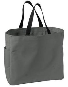 Port  Company - Essential Tote, Charcoal - http://www.besthandbagsdeals.co/shoulder-bags/tote/port-company-essential-tote-charcoal/ #Charcoal, #Company, #Essential, #Port, #Tote