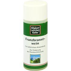 ALLGÄUER LATSCHENKIEFER Franzbranntwein extra stark:   Packungsinhalt: 100 ml Lösung PZN: 01986440 Hersteller: Dr. Theiss Naturwaren GmbH…