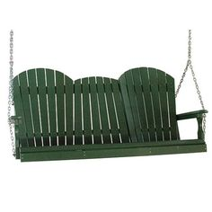 LuxCraft Adirondack Large 3 Person Porch Swing Plastic