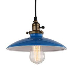 Buy JEMMY HO Metal Pendant Light Dia 10 Inches Mini Vintage Industrial Barn Pendant Lamp (Blue) - Topvintagestyle.com ✓ FREE DELIVERY possible on eligible purchases