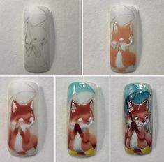 Nail Trends That Keep You Uniquely Fashionable Cartoon Nail Designs, Animal Nail Designs, Animal Nail Art, Fall Nail Designs, Trendy Nail Art, Cute Nail Art, Cute Nails, Autumn Nails, Fall Nail Art