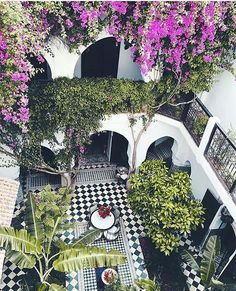 Moroccan Riads Courtyards are filled with an array of colors, textures, and the courtyard is considered the heart of the home - take a look at these magnificent Moroccan Riad Courtyards that will have you packing your bags in no time!