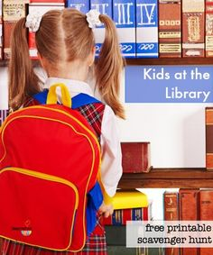 kids at the library: printable scavenger hunt, gear, routines & more