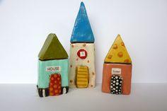 Sculpey Houses!