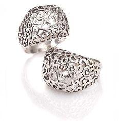 Sterling Silver Filigree Ring - Shema Israel