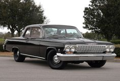 '62 Chevrolet Biscayne 5-speed. Another sleeper ... with a 509-inch Merlin II crate engine and claimed 650+ hp