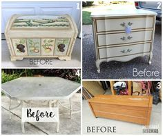 Sharing a brand new thrifty makeover with a pretty French FABRIC DECOUPAGE and Chalk Paint!