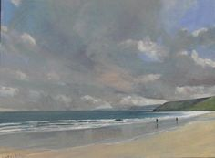 #Scarborough beach.  40x30'' #oil on canvas.  More on http://www.malcolmludvigsen.org.uk/sea40x30.htm