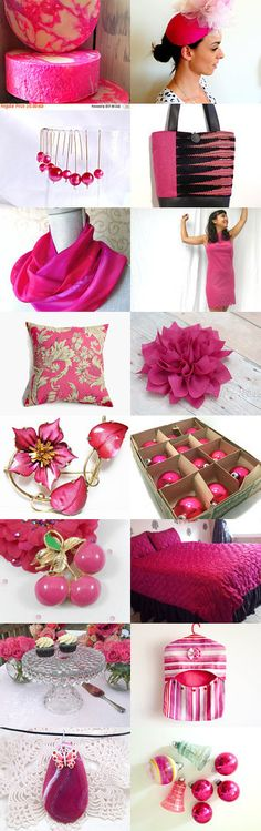 Fab Fuschia Finds by Carla on Etsy--Pinned+with+TreasuryPin.com