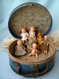 Tiny vintage dolls