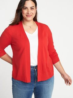 95c4801639af3 Old Navy Pop-Color Yarn Long-Line Open-Front Plus-Size Sweater ...