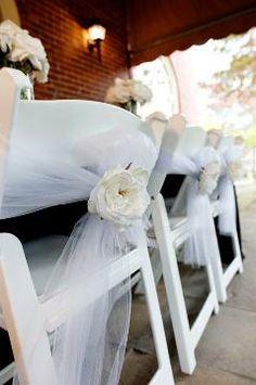 White rose chair back idea via Afloral