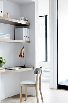 How to maximise space in your home: Don't waste space (as seen in Crisp Street by Mim Design with BPM Developers)   In a small space, it pays to think vertically. Invest in clever storage like floating shelves and custom-built units: it'll save you space and lead the eye upward.