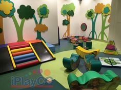 Great for a church, fitness center, airport terminal, library, children care center or family entertainment center. We have been creating fun since Kids Play Area Indoor, Toddler Play Area, Indoor Playroom, Toddler Playground, Soft Play Area, Kids Play Spaces, Indoor Toddler Gym, Playroom Ideas, Kid Playroom