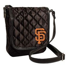MLB San Francisco Giants Quilted Purse, Black by Little Earth. $12.02. Embroidered Team Logo. Rich Satin-Like Quilting. 100% Polyester. Faux Leather Trim. This officially licensed MLB Quilted Purse, manufactured by Pro-FAN-ity by Littlearth, is the perfect purse for the fashion-forward sports-fan. These purses combine details like rich satin quilting and faux leather trim and an embroidered team logo.