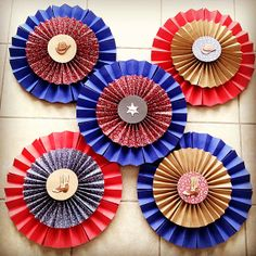 Party Decoration: Western/ Cowboy Paper Rosettes