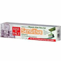Kiss My Face Toothpaste Sensitive Aloe Vera Gel Whitening Cool Orange Mint -- 3.4 oz by Kiss My Face. $8.60. Besides whitening teeth and soothing gums, this great tasting Kiss My Face Certified Organic Aloe Vera Gel Sensitive Whitening Toothpaste will help desensitize teeth with the addition of the clinically proven, naturally occur