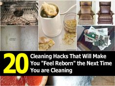 20 Cleaning Hacks That Will Make You Feel Reborn the Next Time You are Cleaning | Idees And Solutions