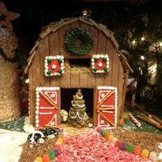 barn gingerbread houses - Google Search