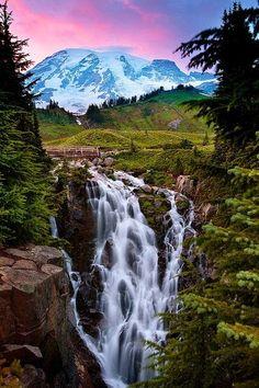 Myrle Falls, Mt. Rainier National Park
