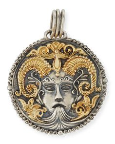 Konstantino Scorpio Carved Zodiac Pendant with Diamonds 5iEkDcvLc