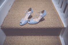 Blue peep toe, t-bar sandals. Photography by http://www.naomijanephotography.com/