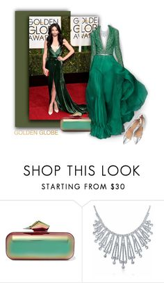 """#goldenglobes"" by axenta ❤ liked on Polyvore featuring Jimmy Choo, Bling Jewelry, Gianvito Rossi, GoldenGlobes and axenta"