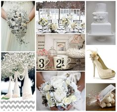 white winter decoration and ideas