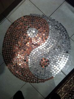 kitchen floor made of pennies 1000 images about projects on 8070