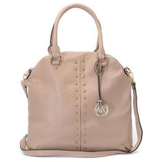 Welcome To Our Michael Kors Bowling Stud Medium Apricot Satchels Online Store