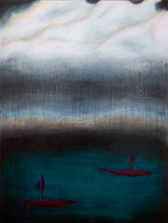 "Life on the Water - 30"" x 40"" Mixed Media on Canvas. #art #painting #abstract #seascape #original"