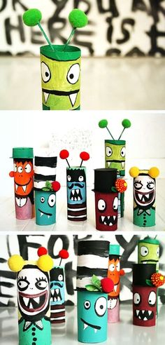 Co z Rolek Po Papierze Toaletowym? - Just My Delicious Paper Towel Crafts, Toilet Paper Roll Crafts, Toilet Paper Rolls, Paper Towels, Paper Towel Rolls, Craft Activities, Preschool Crafts, Fun Crafts, Diy For Kids