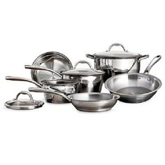Tramontina TriPly StainlessSteel 9Piece Cookware Set ** Read more reviews of the product by visiting the link on the image.-It is an affiliate link to Amazon.