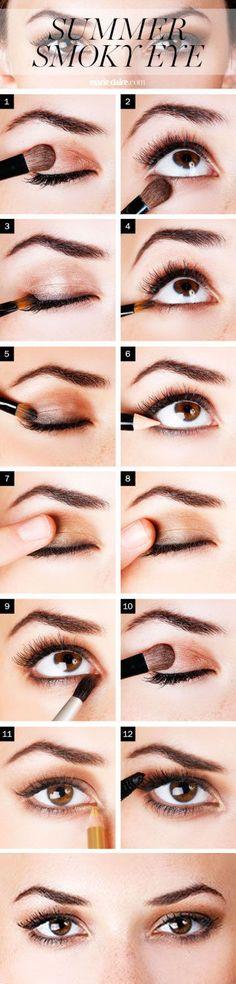 Summer Smoky Eye Make-up ❤︎