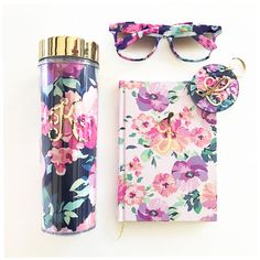 Floral Journal | Floral Notebook | Floral Print | Floral Gifts for Her | Floral Tumbler | Floral Sunglasses | Floral Keychains | Bridesmaid Gift Ideas