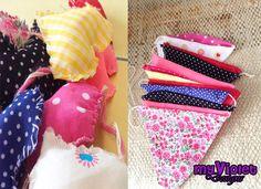 Guirnalda de corazones y guirnalda de banderines combinadas :D myvioletdesigns.com
