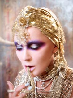 Daphne Guinness in Evening In space by David LaChapelle