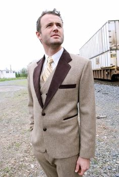 mens suit double breasted etsy handmade vintage- michele nassaney