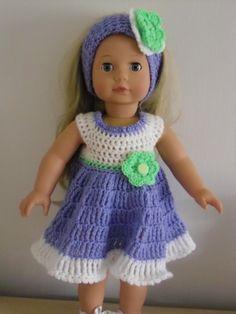 Crochet Dolls Clothes PDF Crochet pattern for 18 inch doll American Girl by petitedolls - Crochet Doll Dress, Crochet Doll Clothes, Crochet Doll Pattern, Doll Clothes Patterns, Girl Doll Clothes, Girl Dolls, Crochet Patterns, Doll Patterns, Crochet Ideas